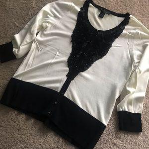 Sweaters - WHITE HOUSE BLACK MARKET  Cardigan 3/4 Sleeve